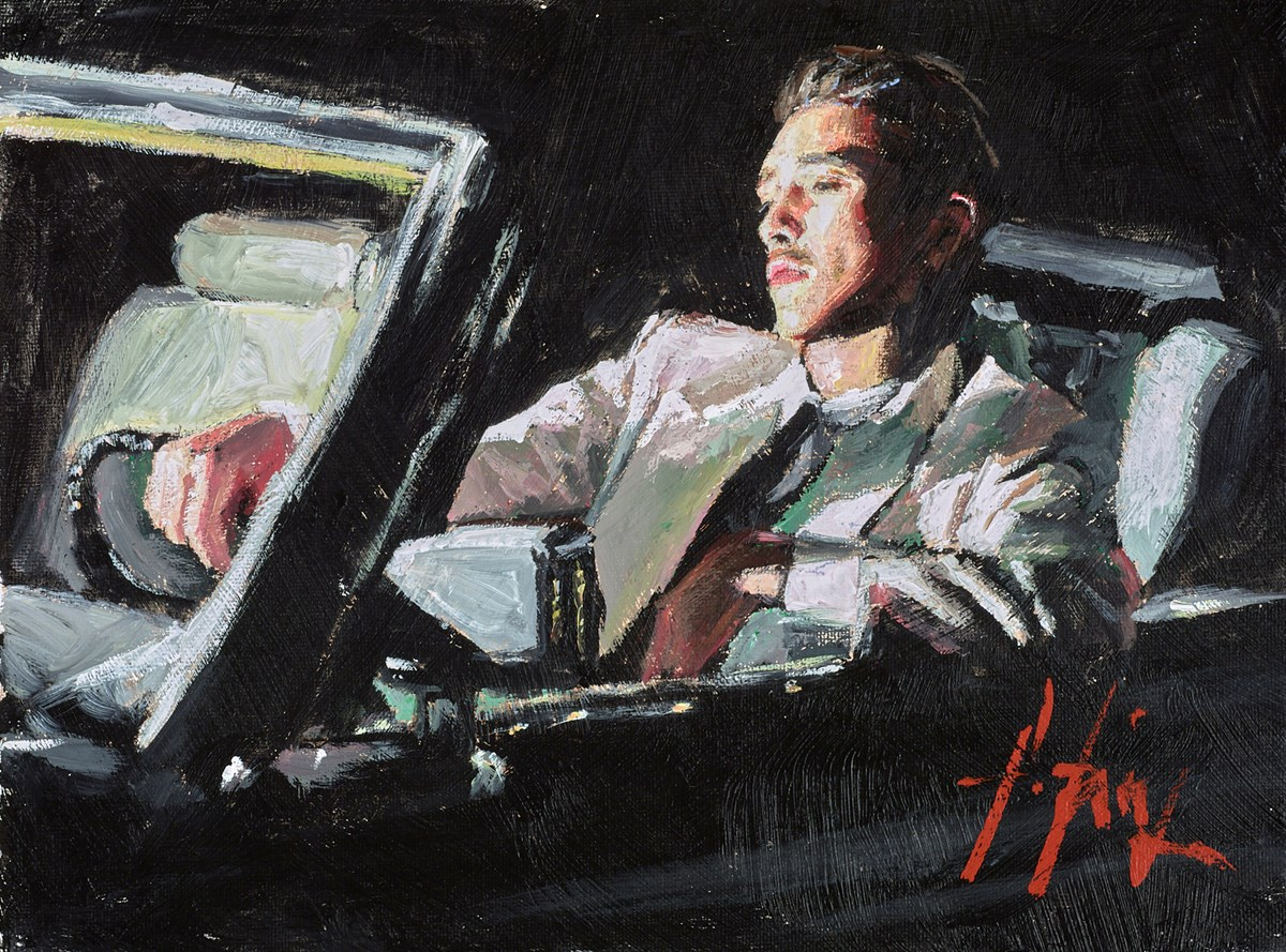 Late Ride II by fabian perez -  sized 12x9 inches. Available from Whitewall Galleries